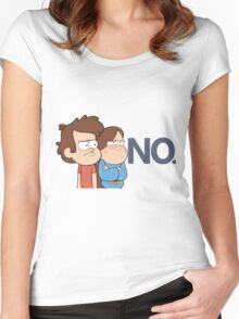 Gravity Falls - NO. Women's Fitted Scoop T-Shirt
