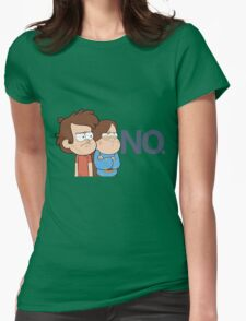 Gravity Falls - NO. Womens Fitted T-Shirt