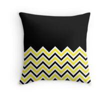 Black & Yellow Chevrons Throw Pillow