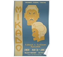 WPA United States Government Work Project Administration Poster 0704 Mikado Gilbert and Sullivan Federal Art Project Poster