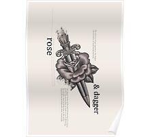 Rose & Dagger Poster
