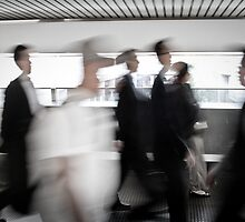 Businessmen in the Central District by JourneyPhotos