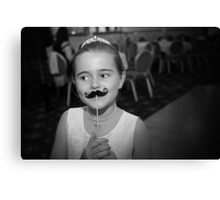 Mustache You A Question.. Canvas Print