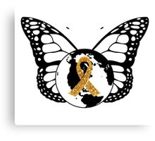 Childhood Cancer Awareness  Canvas Print