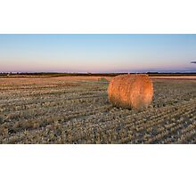 A lone hay bale Photographic Print