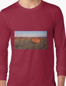 A lone hay bale Long Sleeve T-Shirt