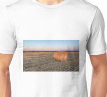 A lone hay bale Unisex T-Shirt