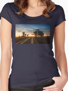 MH-60S Seahawk Helicopter Women's Fitted Scoop T-Shirt