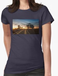 MH-60S Seahawk Helicopter Womens Fitted T-Shirt