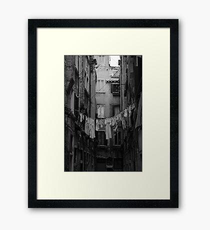 Desolate Streets of Venice  Framed Print
