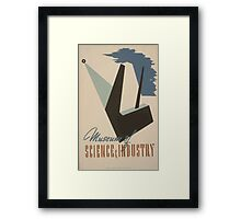 WPA United States Government Work Project Administration Poster 0496 Museum of Science and Industry Framed Print