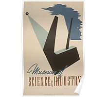 WPA United States Government Work Project Administration Poster 0496 Museum of Science and Industry Poster
