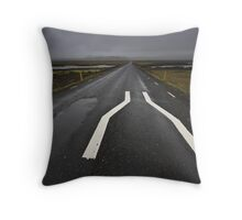 Narrow bridge, Iceland Throw Pillow