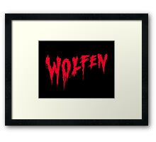 Wolfen -werewolf blood horror movie style Framed Print