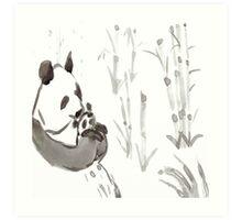 Panda Sumi-e  Art Print