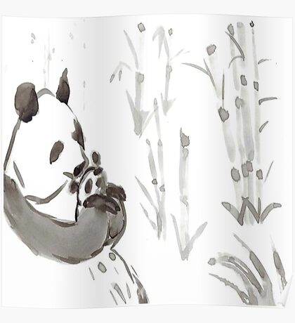 Panda Sumi-e  Poster