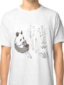 Panda Sumi-e  Classic T-Shirt