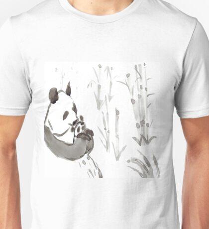 Panda Sumi-e  Unisex T-Shirt