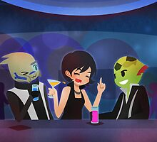 Mass Effect - Tuxedo Night [Commission] by chocominto