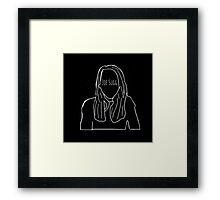 Zoella Outline Framed Print
