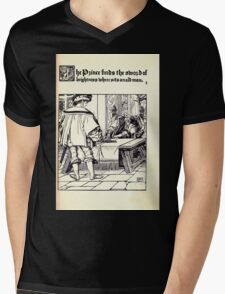 The Wonder Clock Howard Pyle 1915 0137 The Prince Finds the Sword of Brightness Mens V-Neck T-Shirt