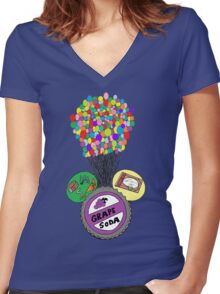 UP MM-ears Women's Fitted V-Neck T-Shirt