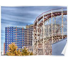 View from Coney Island amusement Park Poster