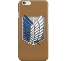 Scouting Legion - Attack on Titan cosplay - alternate version iPhone Case/Skin