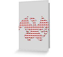 Charizard Pokeball Silhouette Greeting Card