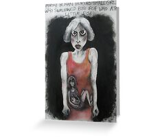3. Angry Woman Devours Small Girl who... Greeting Card