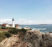 Portland Head Light by Linda  Makiej