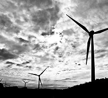 Windfarm - Black and White by pennyswork