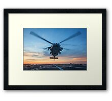 MH-60S Seahawk Helicopter Framed Print