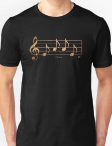 LOVE - Words in Music - Rust -  V-Note Creations Unisex T-Shirt