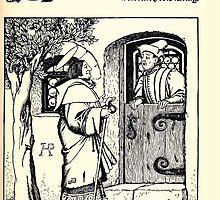 The Wonder Clock Howard Pyle 1915 0147 Saint Nicholas Knocks at the Rich Man's Door by wetdryvac