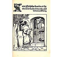 The Wonder Clock Howard Pyle 1915 0147 Saint Nicholas Knocks at the Rich Man's Door Photographic Print