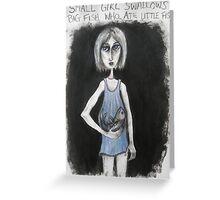 2. Small Girl Swallows Big Fish who... Greeting Card