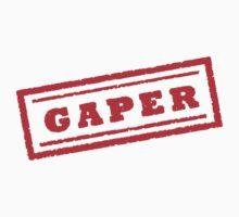 Gaper Stamp (Original - Red) Baby Tee