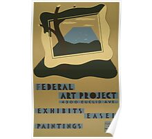 WPA United States Government Work Project Administration Poster 0713 Federal Art Project Exhibits Easel Paintings Poster