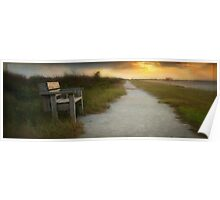 peaceful place, Pea Island NWR Poster