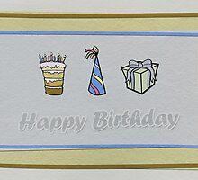 Birthday Card 4 by Tanja Udelhofen