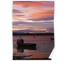 Sunset at the Basin Poster
