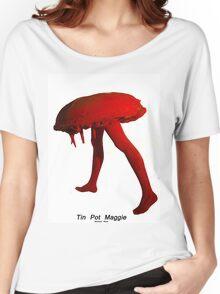 Tin Pot Maggie Red series Sculpture, Women's Relaxed Fit T-Shirt