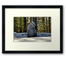Cold Toilet Seat~~You Betcha! Framed Print