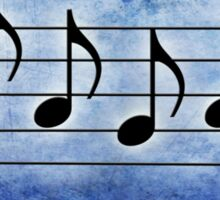 PAGAN - Words in Music Blue Background - V-Note Creations Sticker