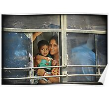 Mother and Child at the window Poster