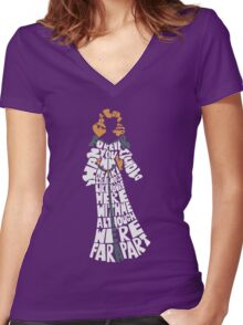 Swan princess Women's Fitted V-Neck T-Shirt