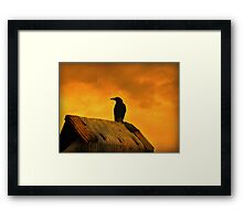 Something Evil This Way Comes Framed Print