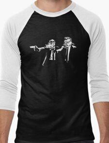 Bebop Rocksteady - Thug life - Pfiction mashup Men's Baseball ¾ T-Shirt