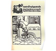 The Wonder Clock Howard Pyle 1915 0105 Cousin Greylegs Steals Away to the Inn Poster